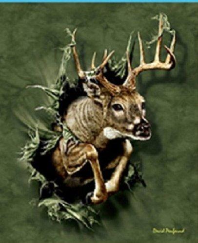 Breakout Deer Super Soft Fleece Throw Blanket Wildlife Gift Idea 50X60 front-864140