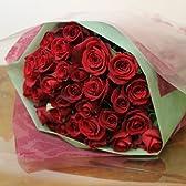 〔エルフルール〕 真紅のバラの花束 30本 カラー:レッド 結婚記念日 プレゼント 薔薇 誕生日祝い 贈り物 母の日 花