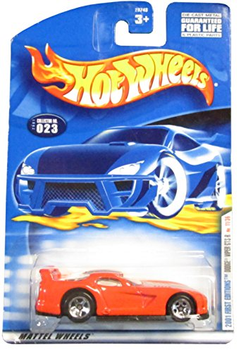 Hot Wheels 2001-023 Dodge Viper Gts-r 11/36 First Edition 1:64 Scale