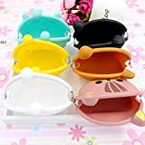 XDOBO Cute Silicone Coin Purse Wallet Rubber Cosmetic Bag Kids Girl Gift, Random Color