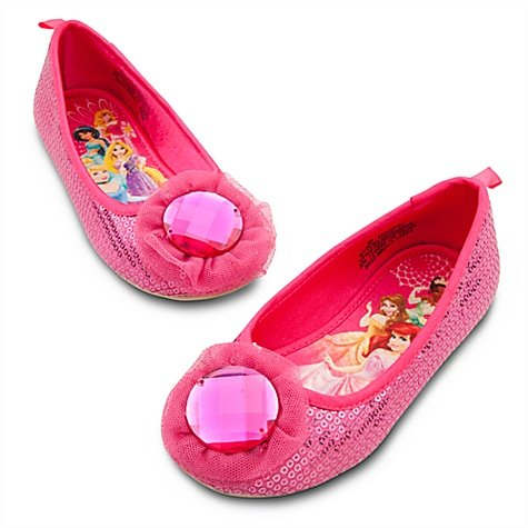 Disney Store Pink Sequin Princess Shoes/Costume Slippers/Ballet Flats (Size 12)