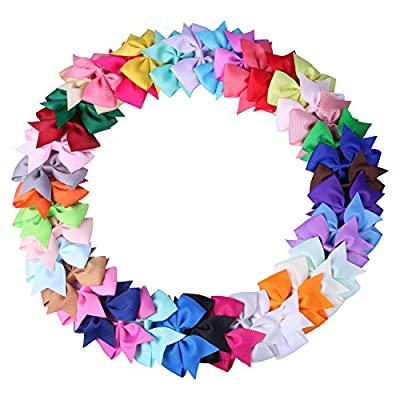 ICObuty 40Pcs Babys Girls Head Bow Hair Bows Clips For TeensToddlers