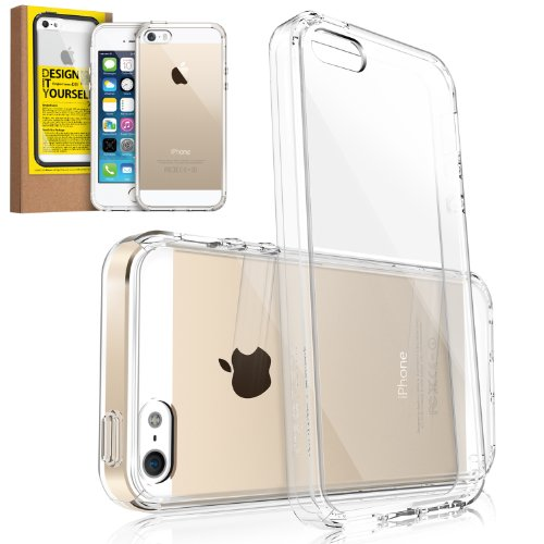 [DROP PROTECTION] RINGKE FUSION® iPhone 5S / 5 Case Bumper [CRYSTAL VIEW] The Best Selling Shock Absorption Bumper + Anti Scratch Clear Back Panel + Design It Yourself Active Touch Technology Premium