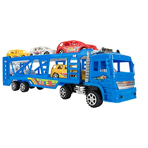 my-first-preschool-blue-truck-car-beginner-set-toys-lightweighted-1-truck-and-5-race-cars-great-holi