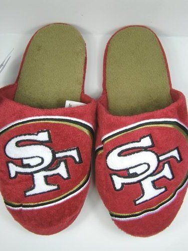 Cheap San Francisco 49ers 2011 Big Logo Two Tone Hard Sole Slippers (B006KYRYUY)