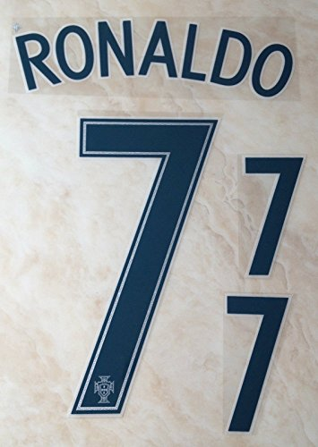 RONALDO #7 Portugal Away Euro 2016 Soccer Jersey Football Shirt Print Transfer Name Number Set Adults (Cristiano Ronaldo Print Number compare prices)