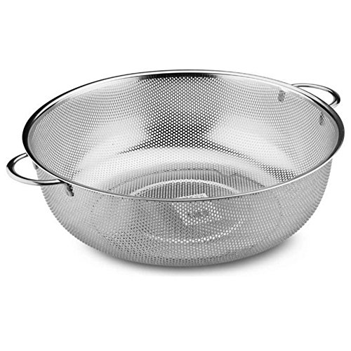Daixers Stainless Steel Kitchen Colander,Fruits and Vegetables Strainer-Large(11.18