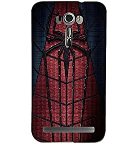 Printvisa Premium Back Cover Spider Man Web Design For Asus Zenfone 2 Laser ZE601KL::Asus Zenfone 2 Laser ZE601KL (6 Inches)