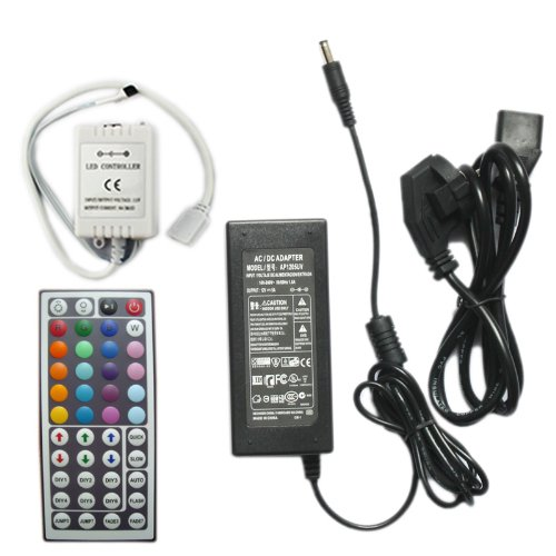 Hkbayi Wholesale 44Key Wireless Ir Remote Controller + 12V 5A Power Supply For 3528 5050 Rgb Led Strip Light Lights