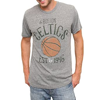 NBA Men's Boston Celtics Est. 1946 Vintage Tee (Steel, Small)