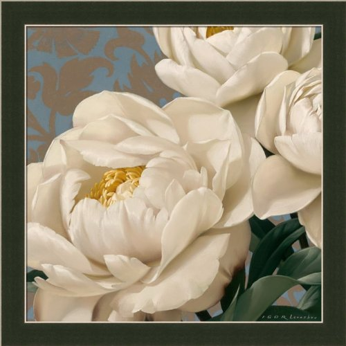 Dolce White Peony By Igor Levashov Shabby Cottage Wall Décor Art Print Framed Picture front-660615