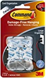 Command Large Cord Clips, Clear, 2-Clip