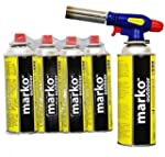 Butane Blow Torch with 4 Gas Canister...