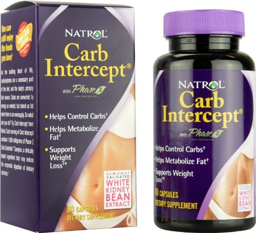 Natrol - Carb Intercept à la phase 2, 60 capsules