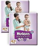 Huggies Wonder Pants Medium Size Diapers( 2 packs, 56 Count)