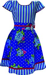 Ant Girls A-Line Dress(M-WFG-019BLUE _26)