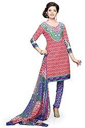 Red Crepe Dress Material - VD14280