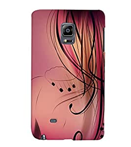 Fuson Nice Girl Back Case Cover for SAMSUNG GALAXY NOTE EDGE - D3940