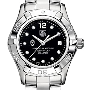 University of Wisconsin TAG Heuer Watch - Ladies Aquaracer with Black Dial by TAG Heuer