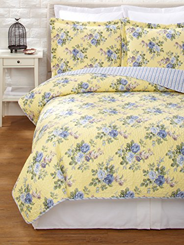 Laura Ashley Linley Quilt Set, Twin front-9173