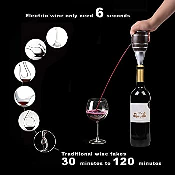 Electric Wine Aerator Wine Dispenser Aerator Pump Battery Operated for Wine and Spirit
