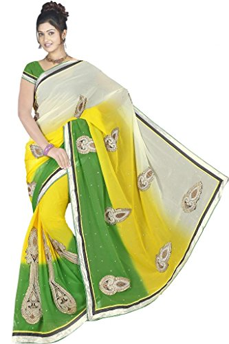 Kesar Saree for womens Gorgette Saree for women