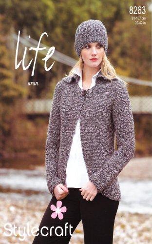 Stylecraft Life Aran Knitting Pattern Womens