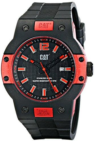 Caterpillar Reloj de cuarzo  Negro / Rojo 45 mm
