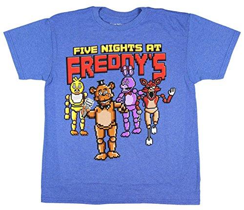 Cinque notti Freddy da Pixelated Boys Maglietta da ragazzo Ufficiale Royal Blue XL
