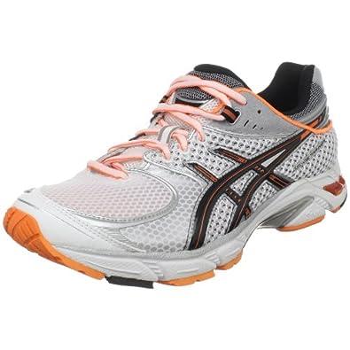 ASICS Men's GEL-DS Trainer 16 Running Shoe,White/Black/Neon Orange,13 M