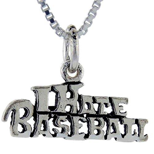 """I Hate """", in argento Sterling, con pendente a forma di palla da basket Talking"""