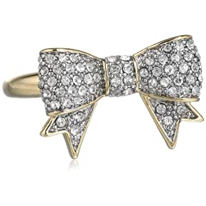 Juicy Couture Pave Bow Ring, Size 6