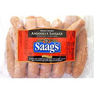 Saags Andouille Sausage 25lb Pkg by Saag's