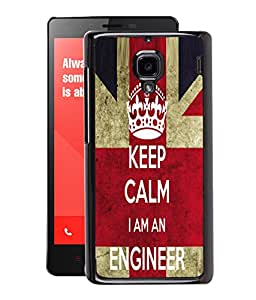 Fuson 2D Printed Engineer Wallpaper Designer Back Case Cover for Xiaomi Redmi1S - D678