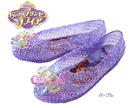 【ちいさなプリンセス ソフィア】 【Disney】 サンダル ガラスの靴 6928 (16cm, パープル)