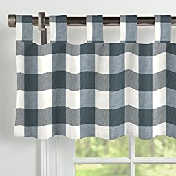 Carousel Designs Navy Buffalo Check Window Valance Tab-Top