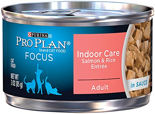 Purina Pro Plan Wet Cat Food, Focus, Adult Indoor Care Salmon and Rice Entrée, 3-Ounce Can, Pack of  24 (Purina Pro Wet Cat Food compare prices)