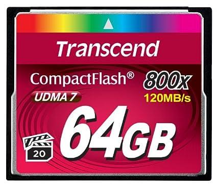 Transcend Premium 64GB (UDMA 7) 800x CF Memory Card