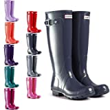 Womens Hunter Original Tall Gloss Wellie Festival Rain Waterproof Boots