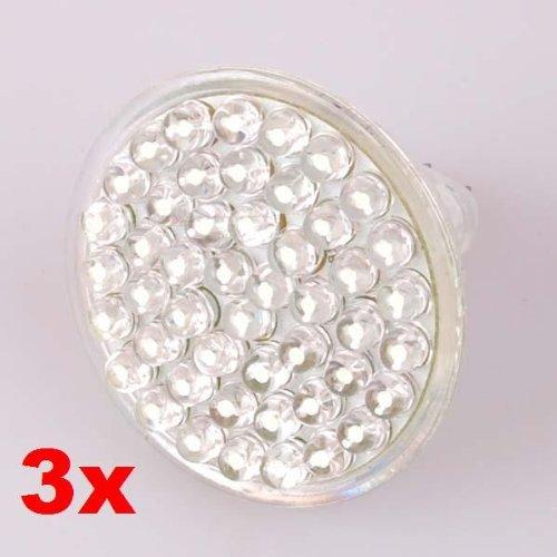 Neewer 3X 2.4W White Energy Saving 48 Led Lamps 12V Mr16 Light Bulb