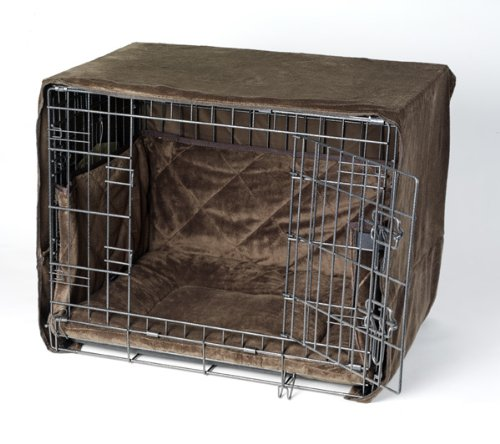 Pet Dreams Plush Side-Door Crate Pad, Crate Cover and Bumper Set- Coco Brown- Medium (Crate Bumper compare prices)