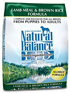 Natural Balance Dry Dog Food, Limited Ingredient Diet Lamb Meal and Brown Rice Recipe, 15 Pound Bag