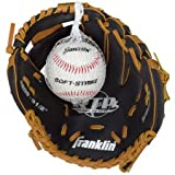 Black & Tan Baseball Glove with Ball