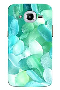 Omnam Jelly Sky Blue Small Printed Designer Back Cover Case For Samsung Galaxy J2 2016
