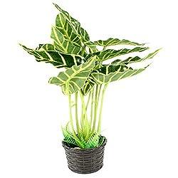 9Height Simulation Aquatic Green Potted Plant Ornament for Aquarium