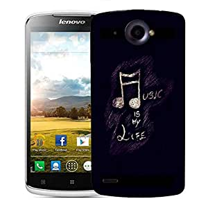 Snoogg Music is my life Designer Protective Back Case Cover For Lenovo S920