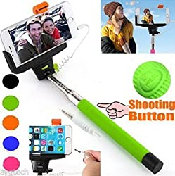 Genuine Kj Star Aux selfie Stick For Apple iPhone 6 6S 6PLUS 5 5S 5C 4 4S and Android 5.1