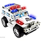 WolVol Bump & Go Action Electric Police Car Toy with Lights and Sirens