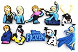10pcs Frozen (Elsa,anna,kristoff,olaf,sven)shoe Charms for Fits Jibbitz Croc Shoes
