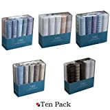 YED01 Ten Of Set With Free Box Y&G Mens Cotton Handkerchiefs Japanese Fashion- variety of colors